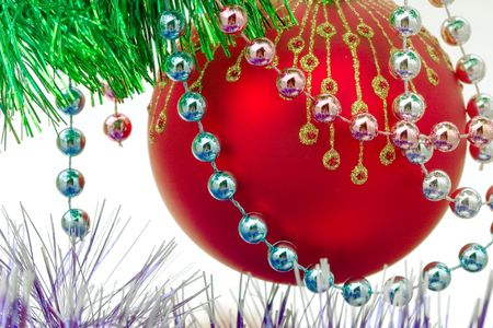 Close up of the christmas decoration. Christmas ball photo