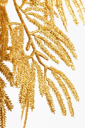 Close up of the gold christmas decoration  photo