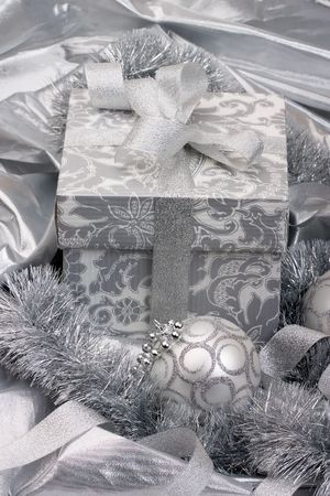knack: Close up of the Silver christmas decoration