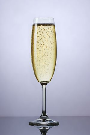 The close up of the champagne wine glass Stock Photo