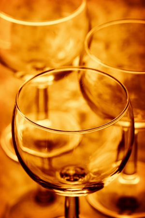 Colored Wine glass background Stock Photo