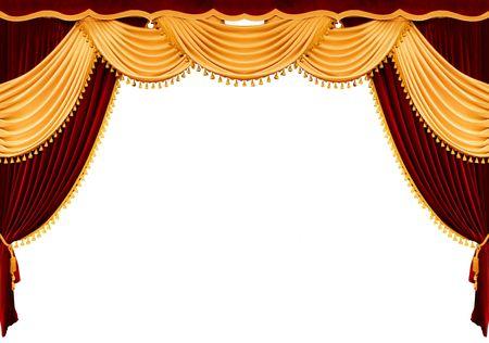 curtain theater: Cortina roja del teatro