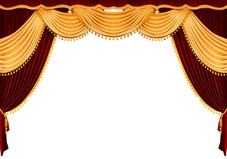 life stages: Red theater curtain