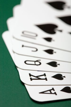 poker cards: the close up of the poker cards