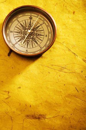 Closeup compass on white background Stock Photo