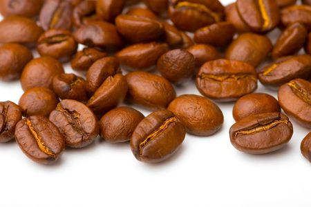 coffe beans: Close up of the aromatic coffe beans  Stock Photo