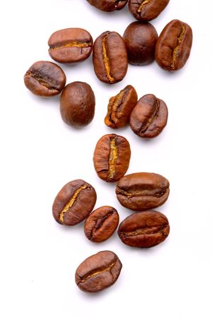 coffe beans: Close up of the aromatic coffe beans
