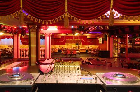 club dj: The Interior of night club. DJ place