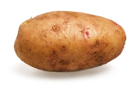 nudist: Close-up view of the raw potato Stock Photo