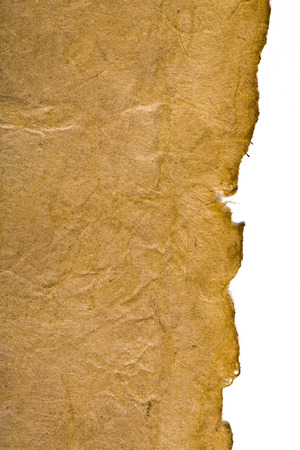 antiqued: Antique paper on white surface with antiqued edges.  Stock Photo