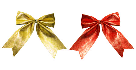 christmass: Close up of color ribbon tied for christmas  Stock Photo
