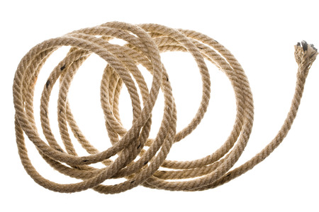 bonding rope: Close up view of an old rope Stock Photo
