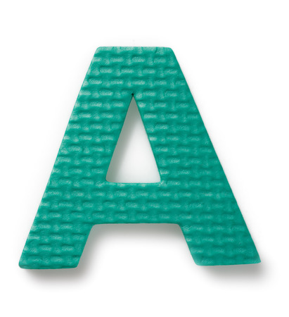 learing: Letter A isolated on the white background