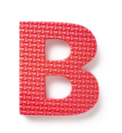 Letter B isolated on the white background Stock Photo - 1582629