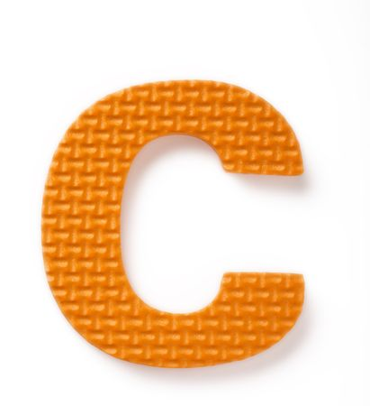 learing: Letter C isolated on the white background Stock Photo