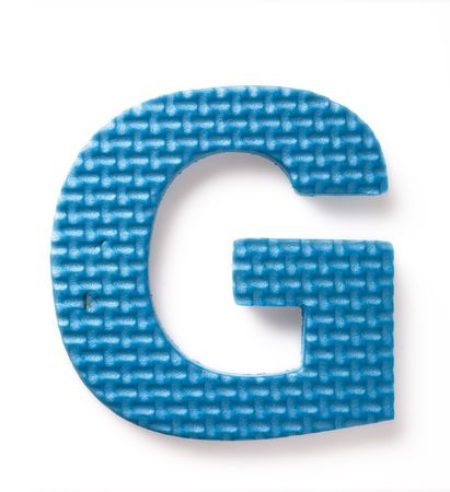 learing: Letter G isolated on the white background Stock Photo