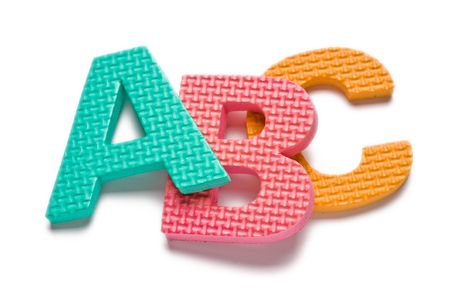 learing: Letterc ABC isolated on the white background