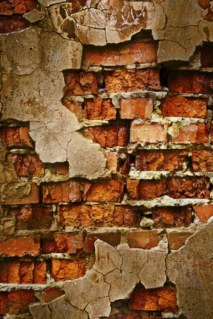 Close up view of the Grunge brick wall texture Stock Photo - 1907525