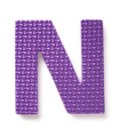 learing: Letter N isolated on the white background