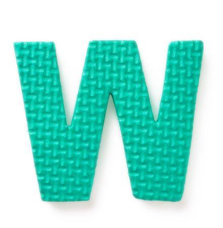 Letter V isolated on the white background