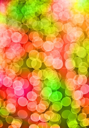 Christmas lights in the background. Forced blurr.
