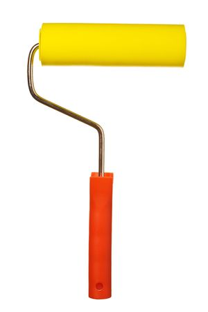 Close up view of the Paint roller - isolated on white Stock Photo - 2136661