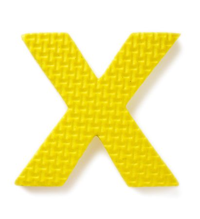 Letter X isolated on the white background Stock Photo - 2217445