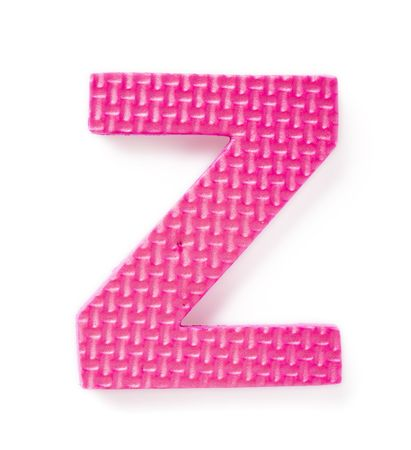 learing: Letter Z isolated on the white background Stock Photo