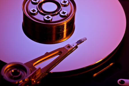 medium closeup: Close up view of the Detail of HDD
