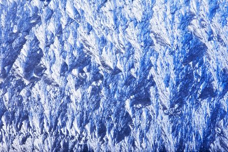 Close up view of the natural frosty patterns Stock Photo - 2217518