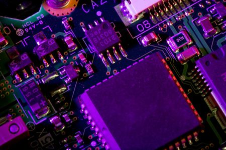 Close up view of the abstract microcircuit. Stock Photo - 2791866