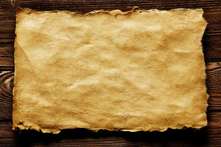 old paper on brown wood texture with natural patterns Stock Photo - 2955185