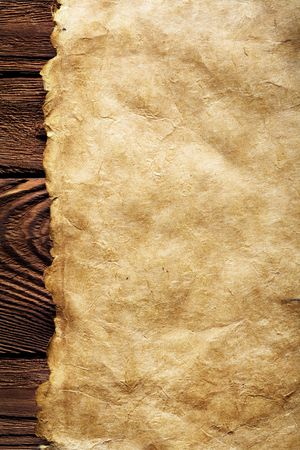 old paper on brown wood texture with natural patterns Stock Photo - 2955207
