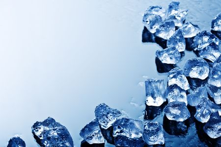 background with ice cubes in blue light Stock Photo - 2955475