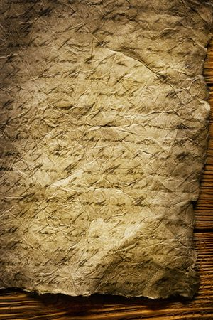 old paper on brown wood texture with natural patterns Stock Photo - 3069679