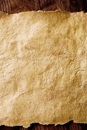 old paper on brown wood texture with natural patterns Stock Photo - 3122981