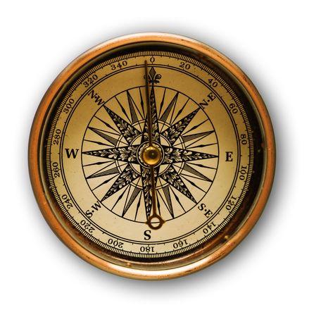 encuestando: Cerrar vista a menudo los antiguos compas con suave sombra