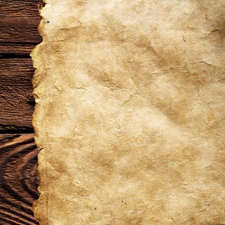 old paper on brown wood texture with natural patterns Stock Photo - 3270660