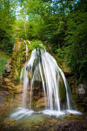 The beautiful waterfall in forest, spring, long exposure Stock Photo - 3311562