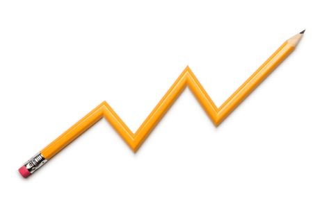 sharpened: pencil line graph