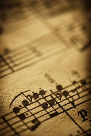 old sheet music Stock Photo - 3658636