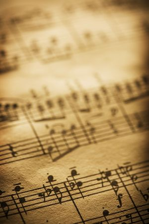 old sheet music Stock Photo - 3658635