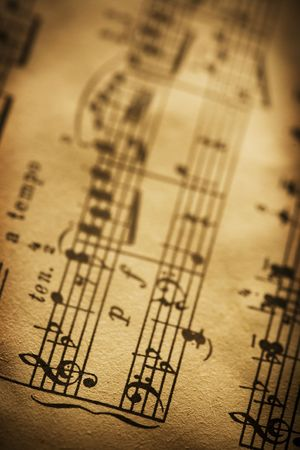 old sheet music Stock Photo - 3658637