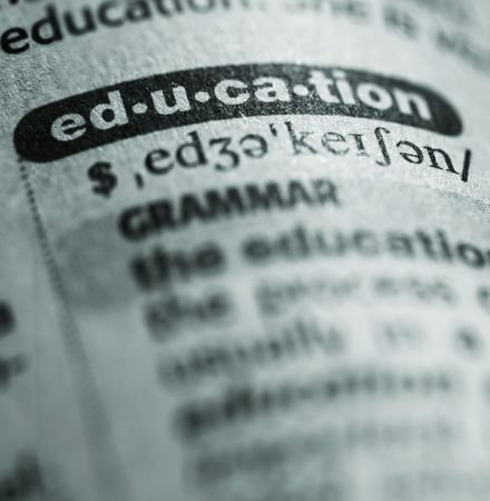 pronounce: dictionary definition of word education