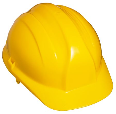 Yellow Hard Hat. Isolated photo