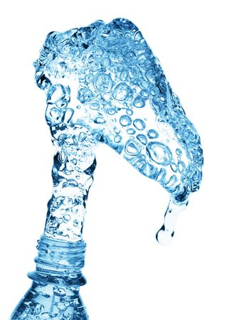 pouring water from bottle photo