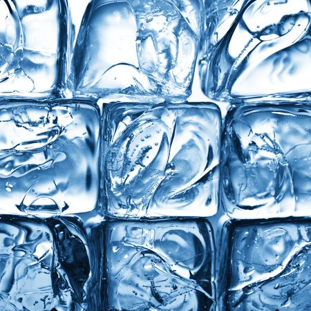 coolness: background with ice cubes in blue light