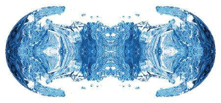 Bubbles forming in blue water, isolated Stock Photo - 4020529