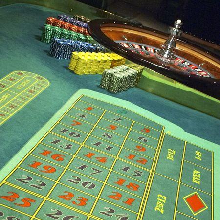 pokers: Casino, roulette Stock Photo