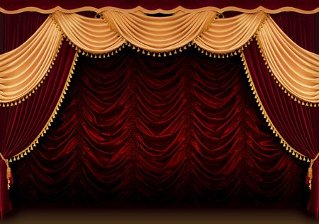 stardom: Red theater curtain